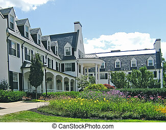 Country inn: front facade.