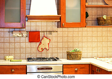 Country kitchen counter