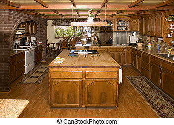 Country kitchen in Oregon - Country style kitchen in an ...