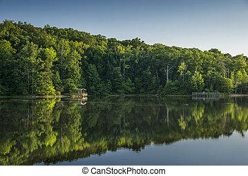 Country Lake - Country lake in north Georgia, USA.