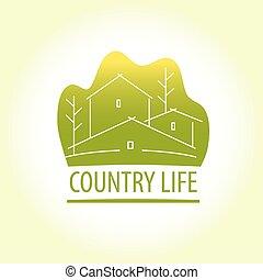 Country life. Properti logo - Template logo for suburban...