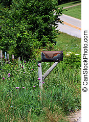 Country Mailbox - Rural mailbox in the Ozark Mountains of ...