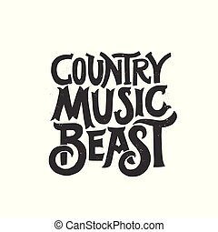 Country Music concept