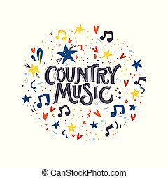 Country Music Lettering