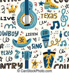 Country Music Pattern