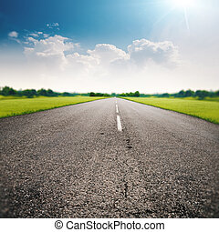 Country road, abstract transportation and travel backgrounds