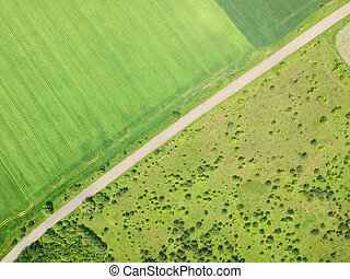 Country road aerial