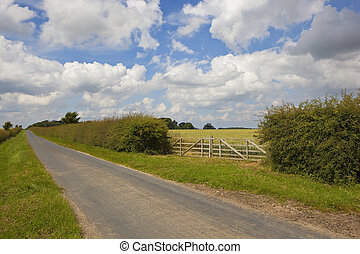 country road and gate