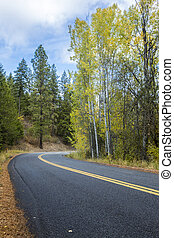 Country road in north Idaho.