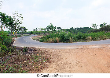 country road in Thailand