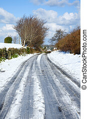 Country road snow.