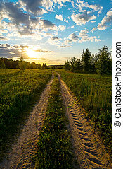 Country Road. Sunset