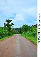Country road with trees
