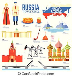 Country Russia travel vacation guide of goods, places and...