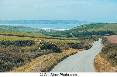 summer landscape in Cornwall, UK