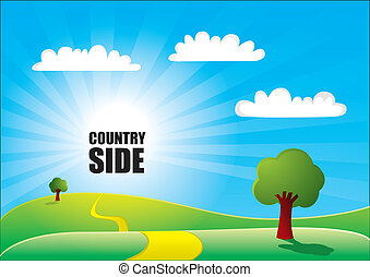 country side background  - country side background