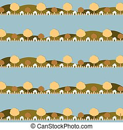 Country Side Life Pattern.