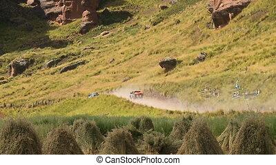 Country Side Road Near A Farmland, Andes, Peru