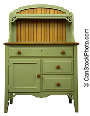 Cupboard  - Country Style Cupboard in Painted Sage Finish