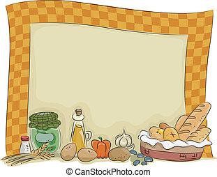 Country Style Kitchen Board Background