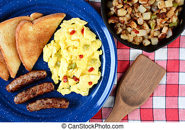 Country Style Scrambled Eggs With Peppers