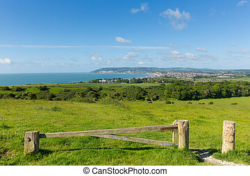Country view to Shanklin Isle of Wi - Bay and coastline...