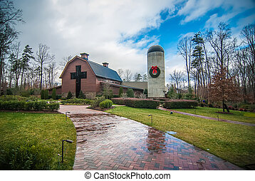 country walk by the village, billy graham library, north...