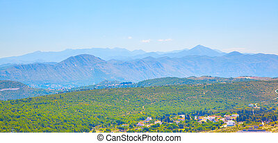 Countryside ang mountains near Dubrovnik - Panoramic view of...