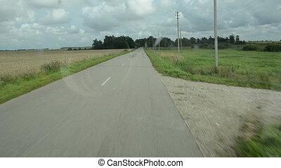 countryside asphalt road