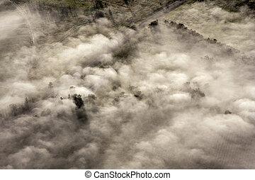 countryside, australien, aerial udsigt