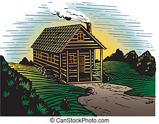 Countryside Cabin - A small, occupied cabin in the country