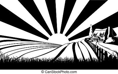 Countryside concept