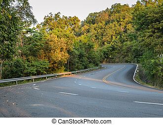 Countryside curve road