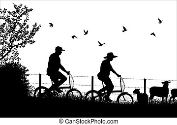 Countryside cycle