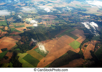 countryside from above - view from above of the countryside ...