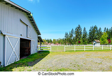 Countryside horse farm