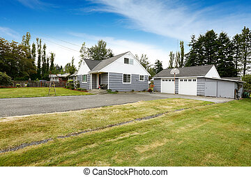 Countryside house with two car garage