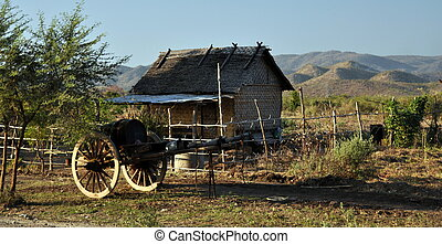 Countryside in Myanmar - Scenes in a typical countryside in...