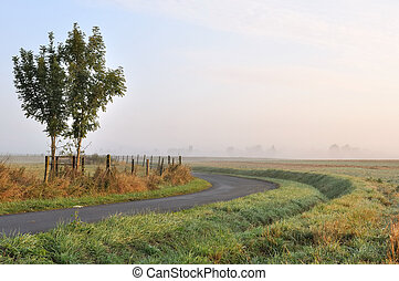 countryside landscape at down