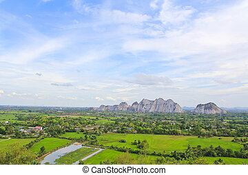 Countryside landscape,