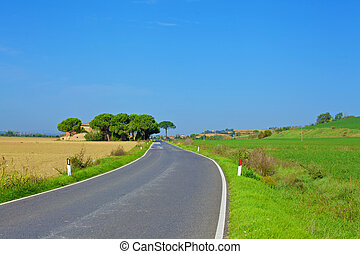 Countryside road in tuscany