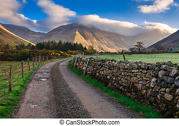 Countryside road with beautiful landscape