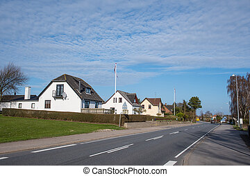 Countryside village of Gl. Kalvehave in Denmark on a sunny...