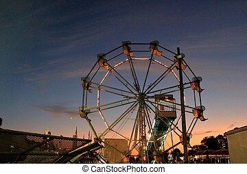 County fair ferris wheel - A ferris wheel at the county fair...
