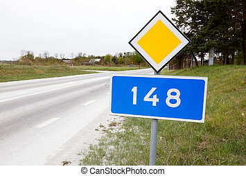 County road 148 - The primary county road 148 in the Swedish...
