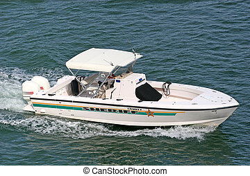 County Sheriff - A county sherrifs boat on the water