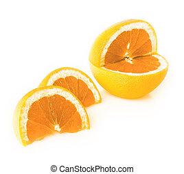 coupé, blanc, orange