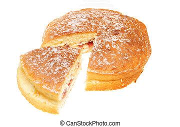 coupé, gâteau de savoie