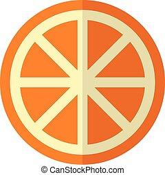 coupé, orange, blanc