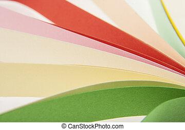 coupé, papier, coloré